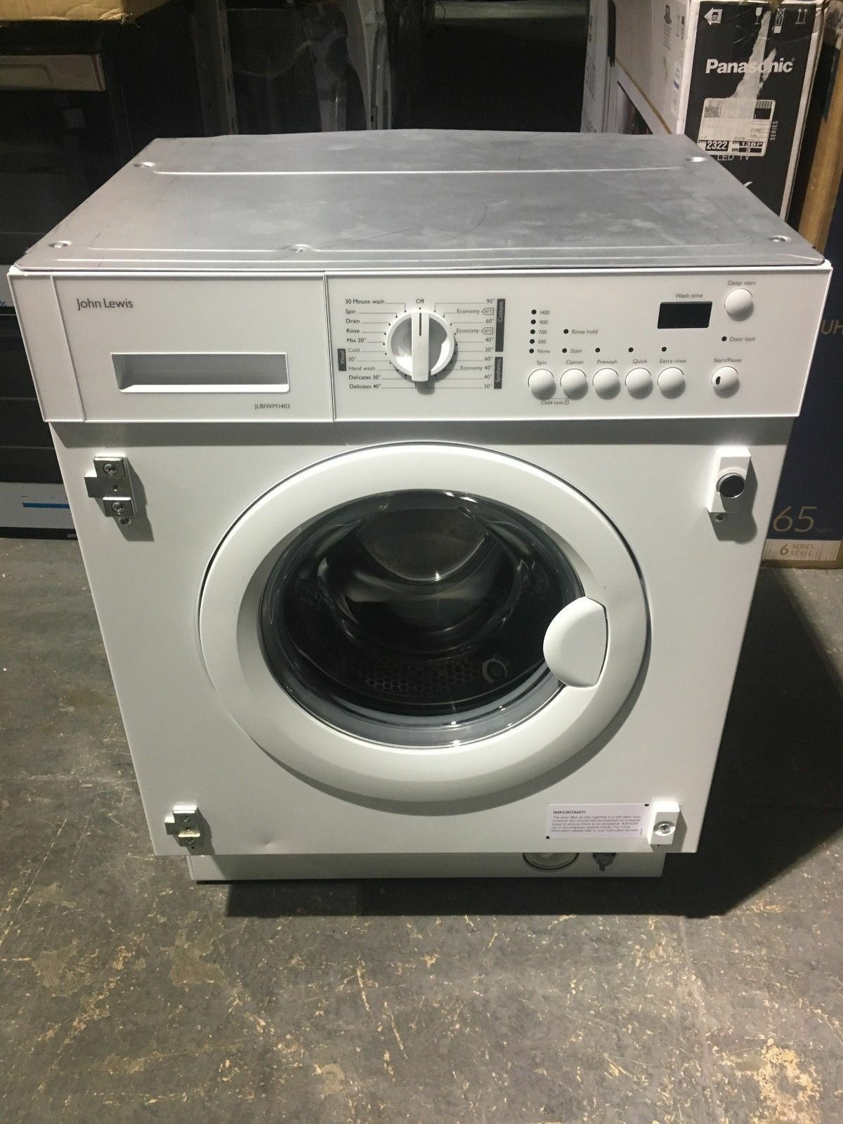 b264a4f9763 John Lewis JLBIWM1403 Integrated Washing Machine